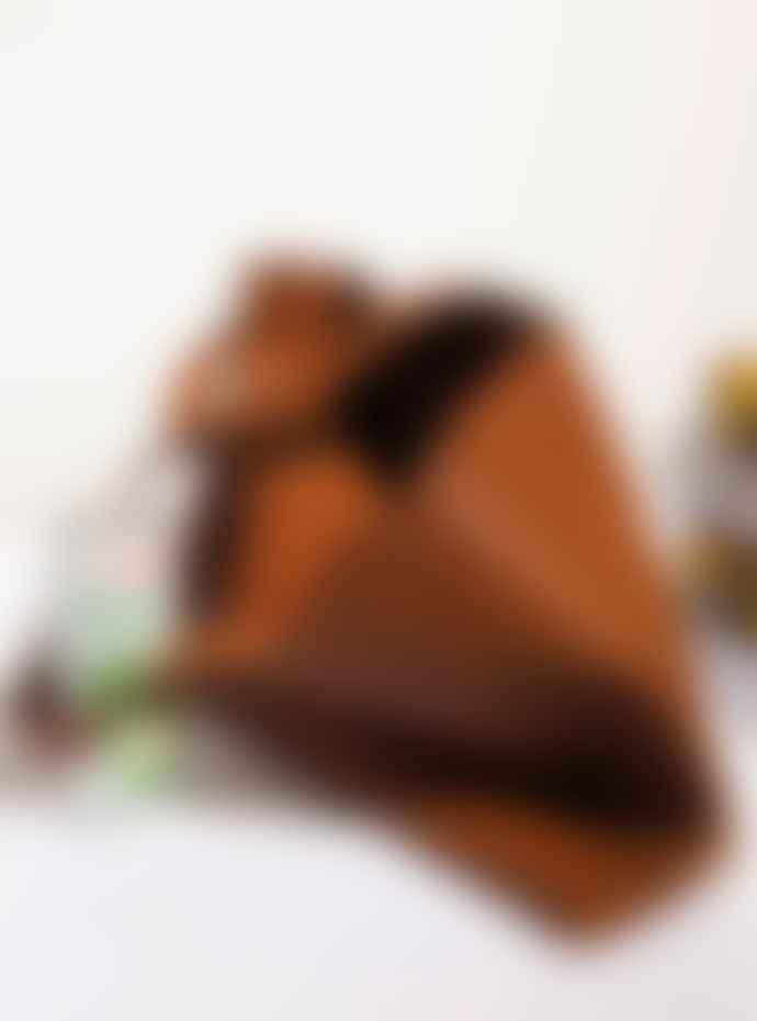 La Benjamine Medium Cognac Cow Leather Tote Shoulder Bag