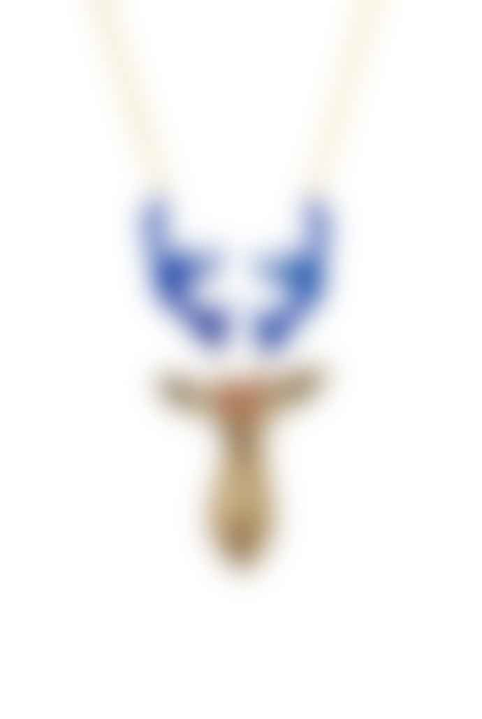 Guille Garcia-Hoz Gold Stag With Black Horns Pendant