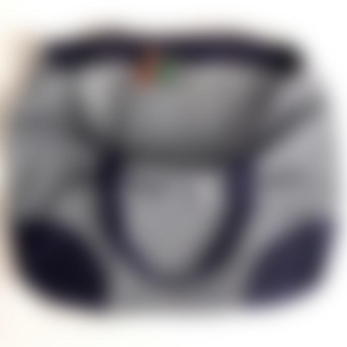Yarmouth Oilskins Ticking Stripe Navy Shopper