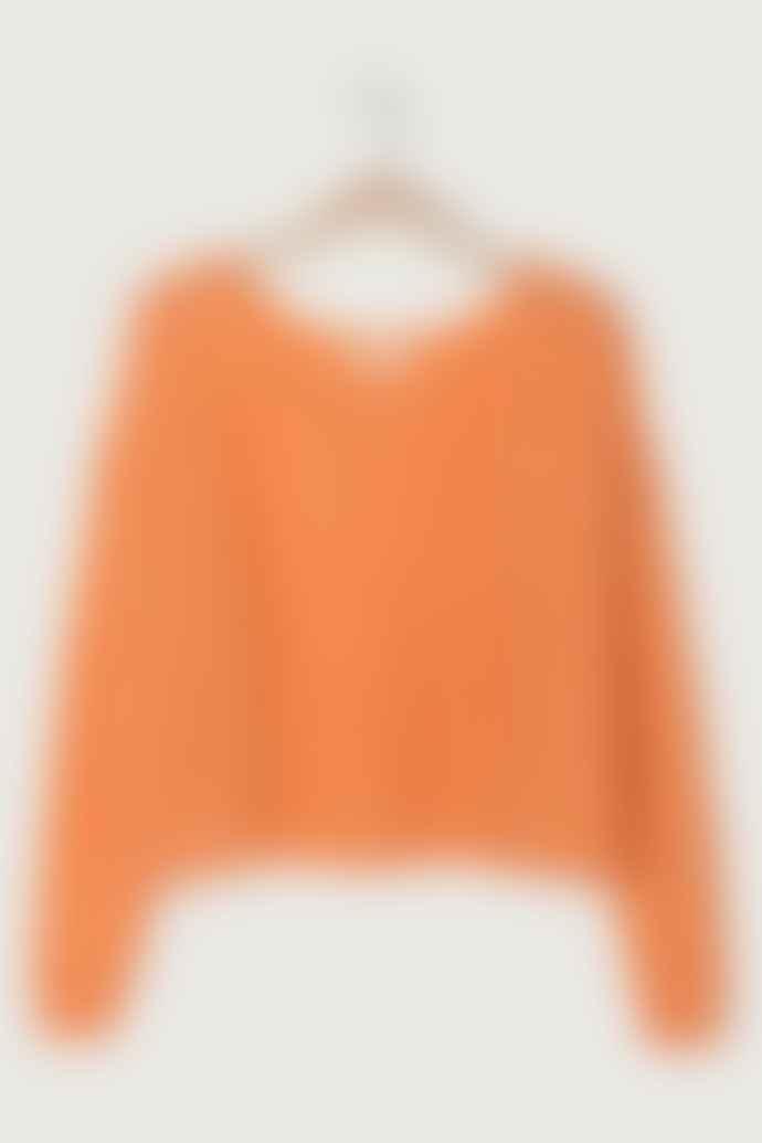 American Vintage Zazow Pullover Zazo 235 Nectar Orange