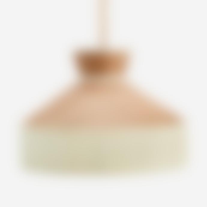 Madam Stoltz Cane Ceiling Lamp with White Cotton