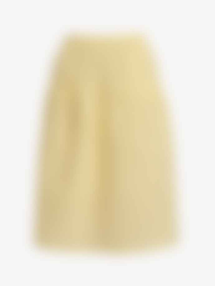 Naja Lauf Yellow Sofie 3 D Check Skirt