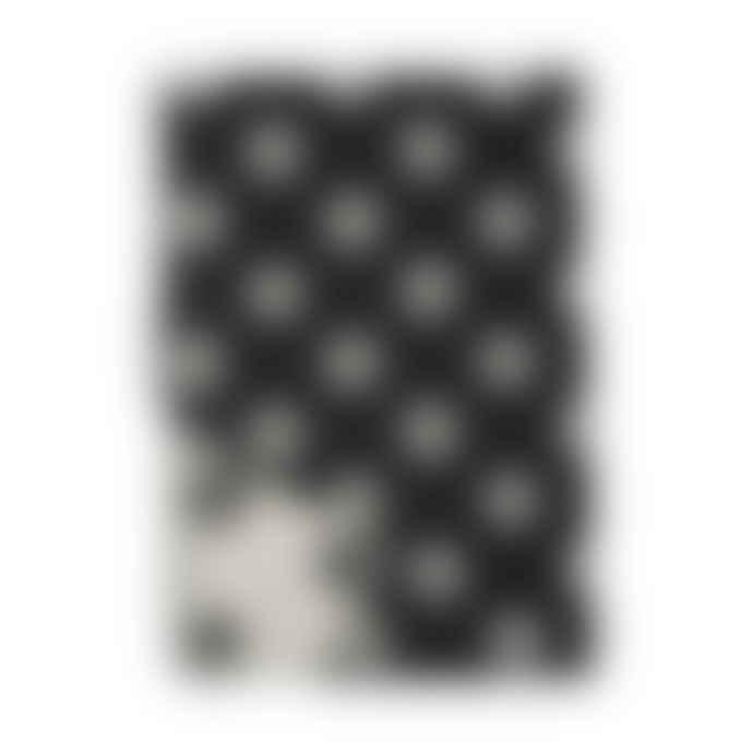 Klippan Yllefabrik 130 x 180cm Black Rings Premium Wool Felt Blanket