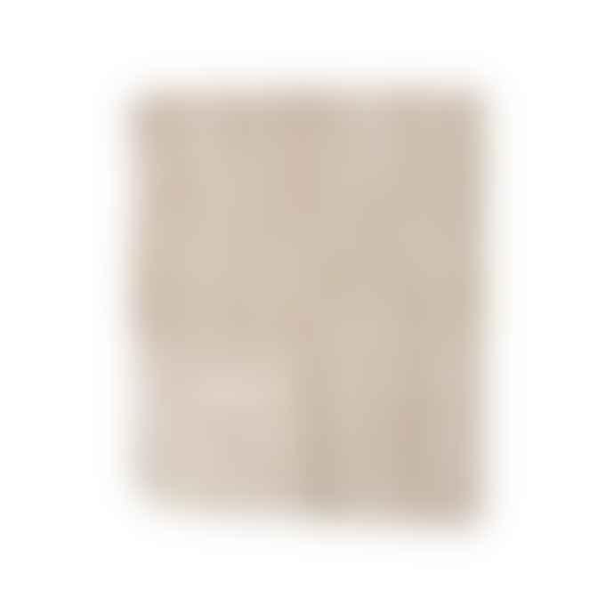 Klippan Yllefabrik Beige Organic Cotton Felt Bamboo Blanket