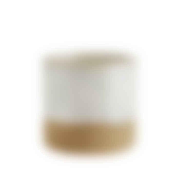 Madam Stoltz Dip Glaze Stoneware Flower Pot