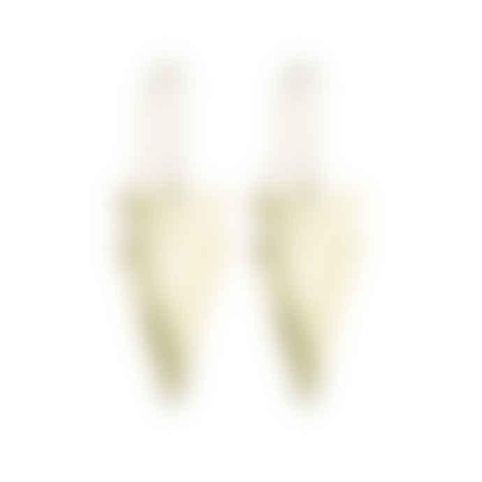 Just Trade  Geometric Brass Lucie Earrings