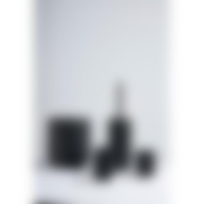 Zone Denmark Bathroom brush made of super soft stoneware in black h38,7Xdiameter 10 cm.