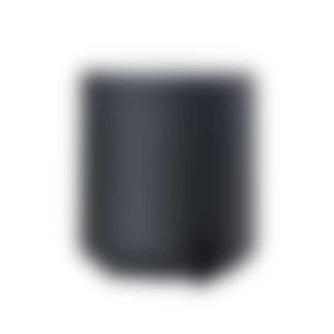 Zone Denmark Pedal bin D: 19.5 cm, height 22 cm.Ume bath collection in super soft matt black silicone