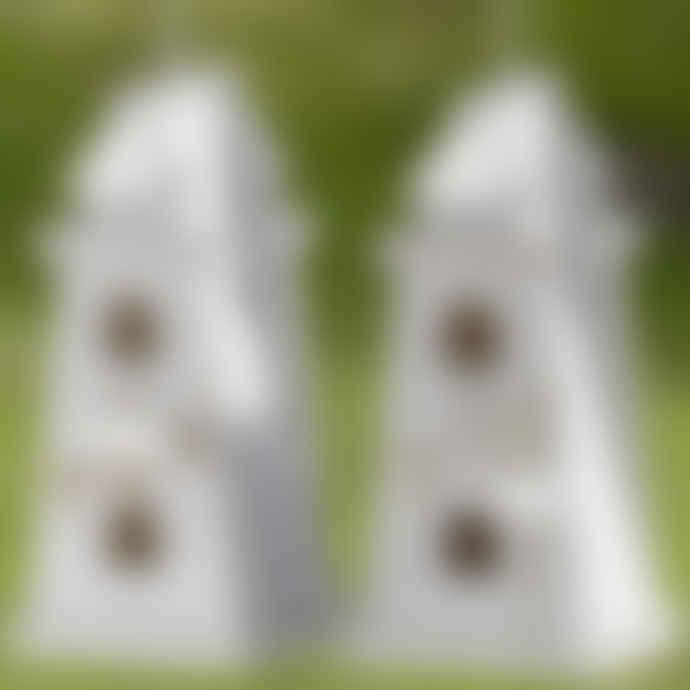 Boltze White Lighthouse Shaped Birdhouse