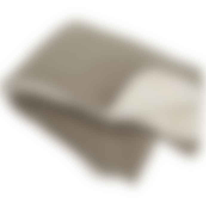 Dröm Collection Rectangular blanket 100x75cm made of polyester with beige lamb