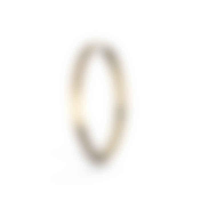 Jane Kønig Midi Hoop Gold
