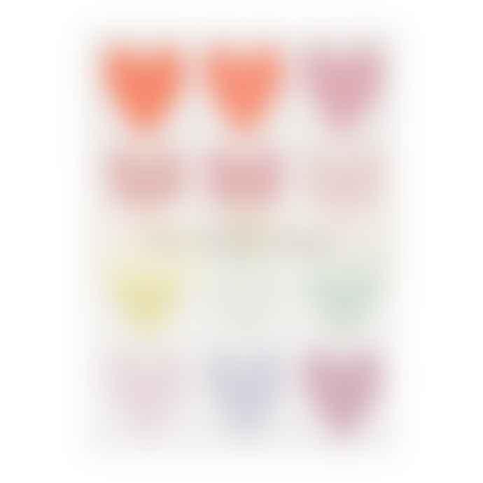 Meri Meri Pastel Heart Glitter Stickers