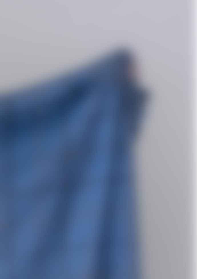 The Tartan Blanket Co. Recycled Wool Blanket - Sky Blue Check