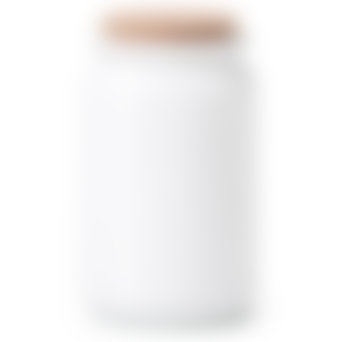 Dröm Collection Glass container 11xh19cm in matt white with cork stopper