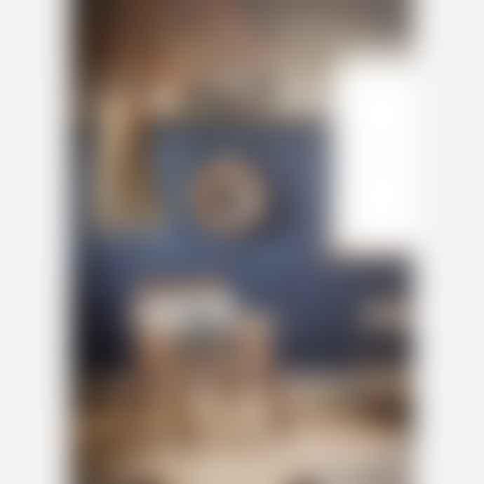 Madam Stoltz Beige and Black Linen Cushion Cover/664