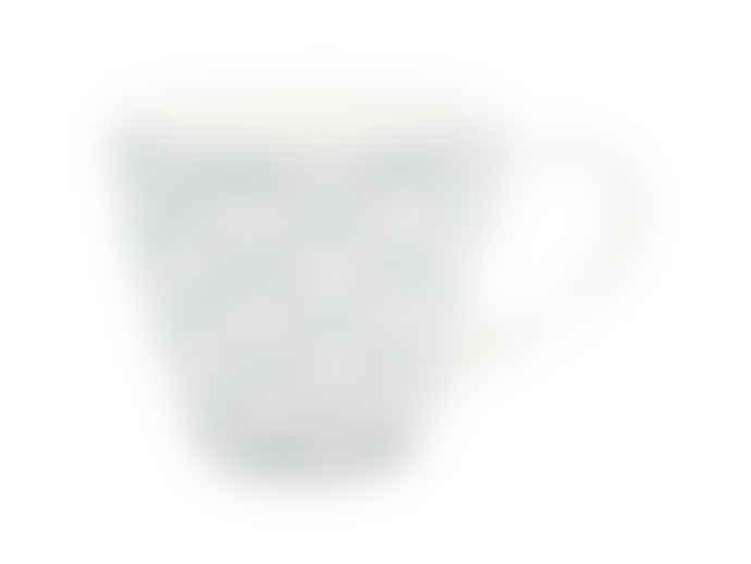 Green Gate Mug with Handle Alva White