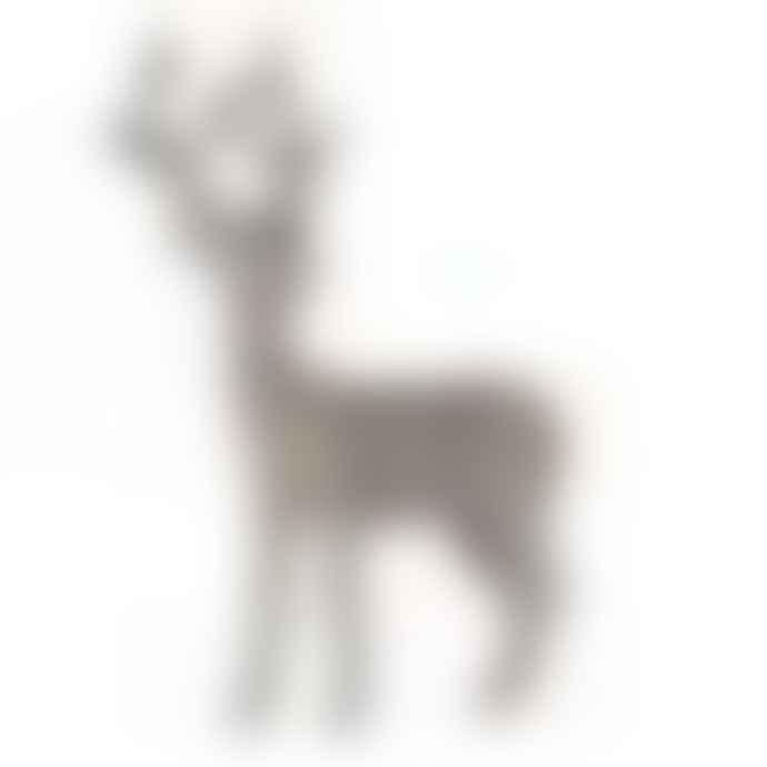 Coach House Textured Snowy Deer