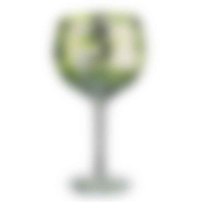 The DRH Collection Tropical Leaves Gin Glass