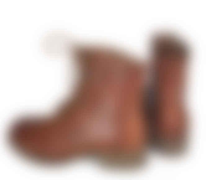 Tenpoints Laced Boots, Pandora, Brandy