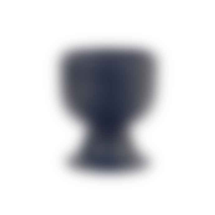 HKliving Bold & Basic Ceramics Mug On Base Matt Blue