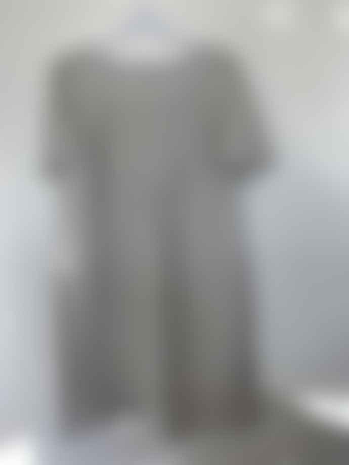 120% Lino Grey Glitter Print Row Dress