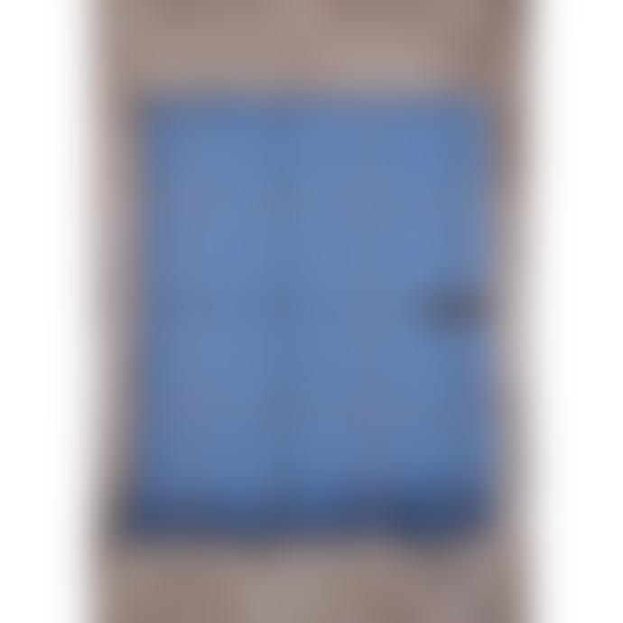 The Tartan Blanket Co. Recycled Wool Knee Blanket - Sky Blue Check