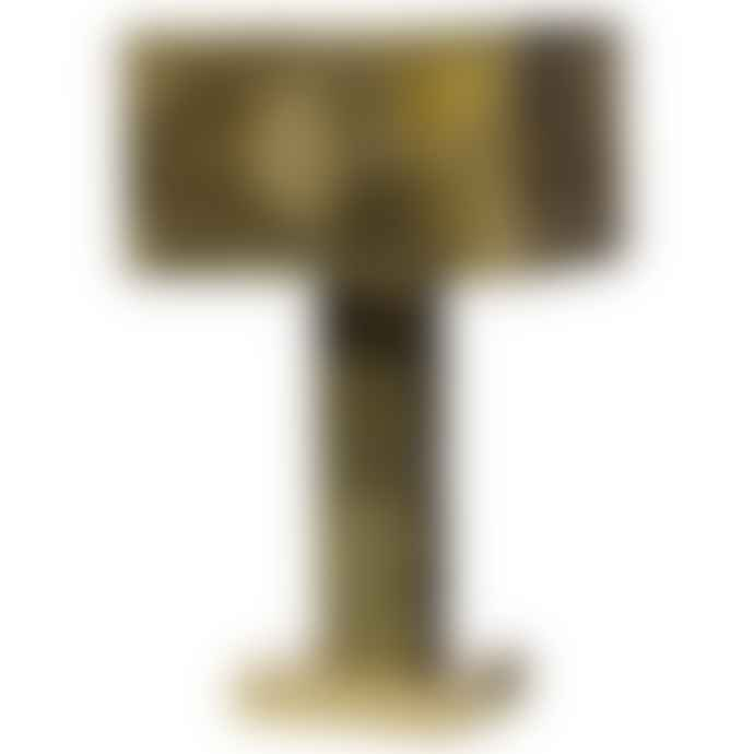 Pols Potten Golden Brass Perforated Metal Lamp