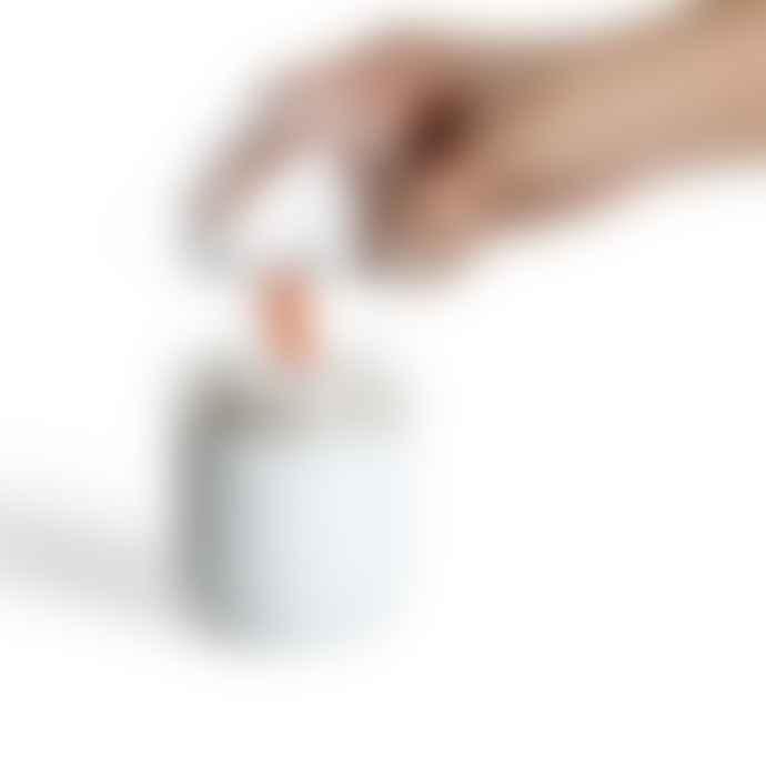 Qualy Cotton Bud Container Seahorse Bathroom Holder Orange White