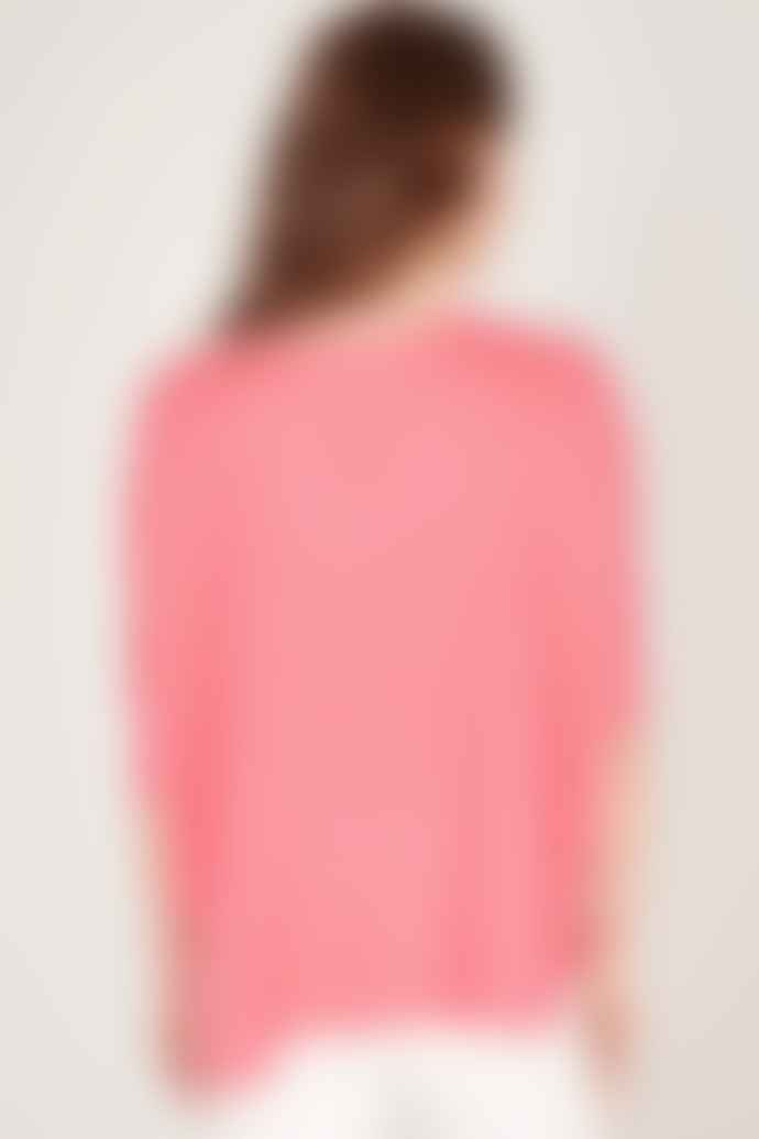 Absolut Cashmere Kate Oversize V Neck Sweater With Short Sleeves
