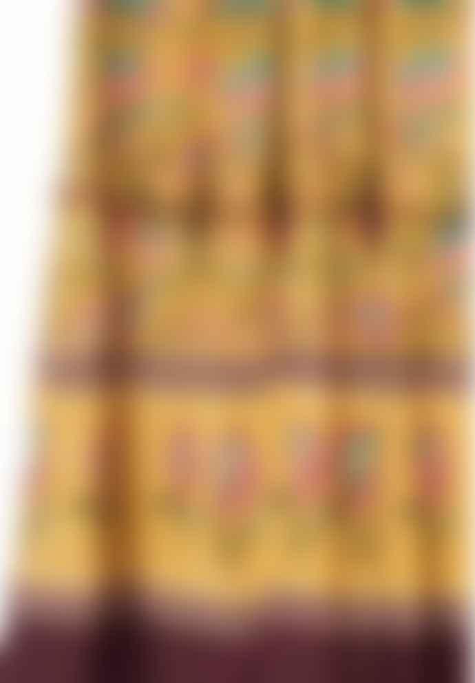 M.A.B.E Mustard Floral Print Dinah Maxi Dress