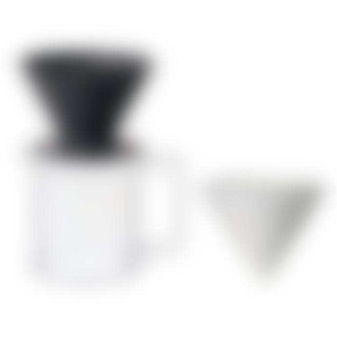 Kinto Black Oct Brewer Jug Set 4 Cups