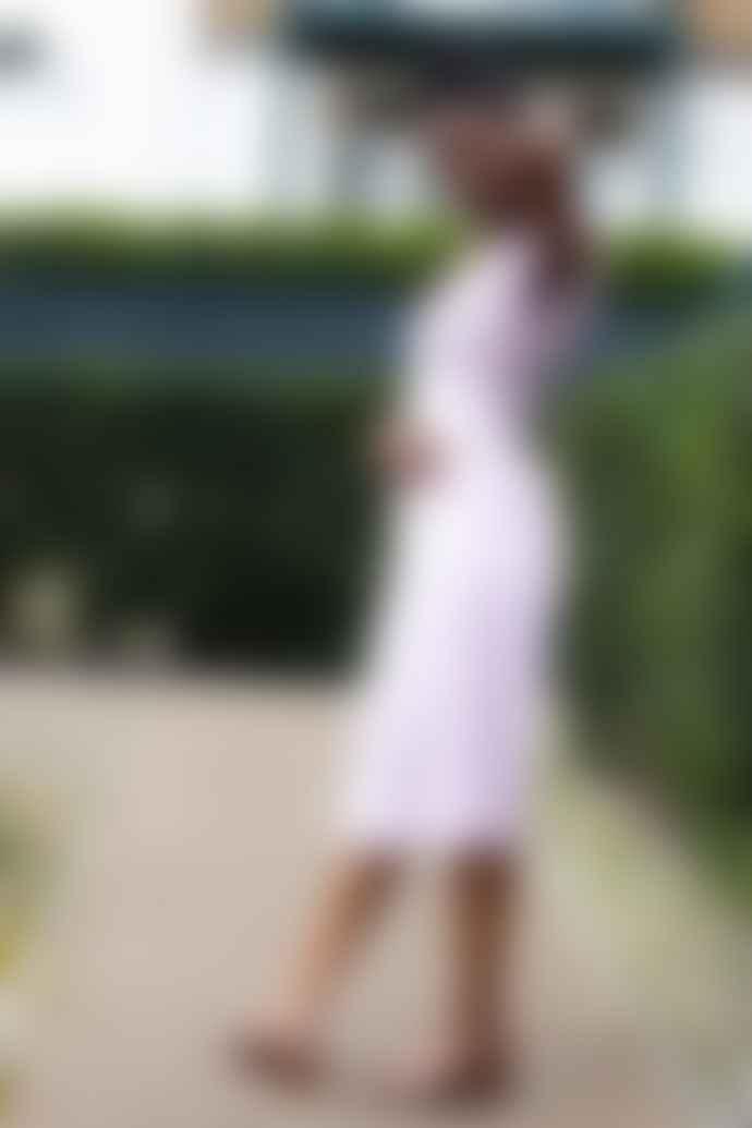 Petite Mendigote Nolla Mauve Petal Dress