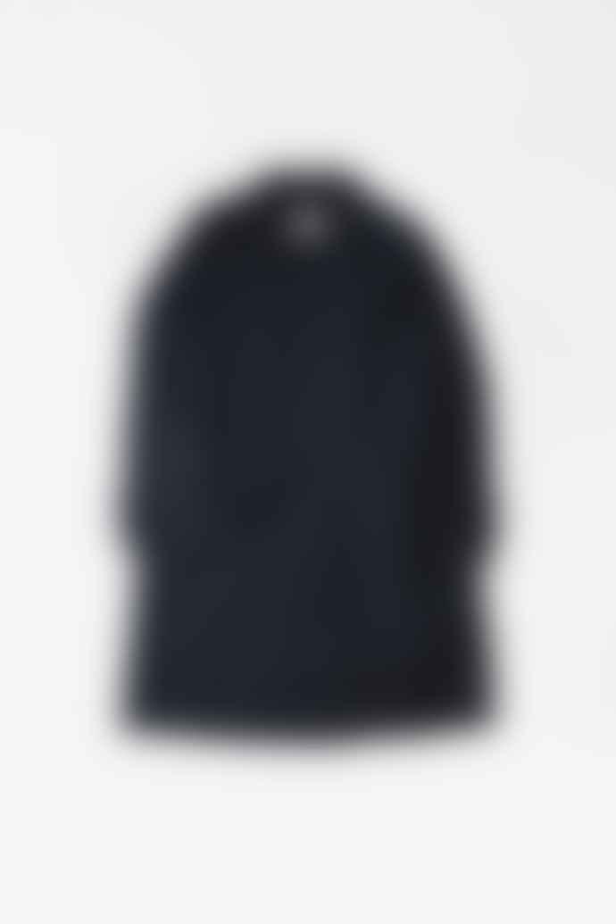 Margaret Howell Self Belt Mac Waxed Cotton Ink Raincoat