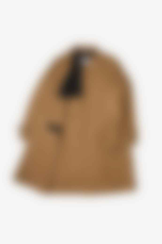 Margaret Howell Self Belt Mac Waxed Cotton Dark Stone Raincoat