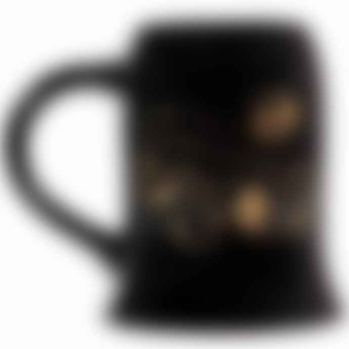 Half Moon Bay Harry Potter Mug Cauldron Large Black Gold