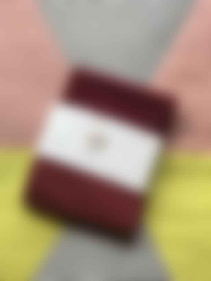 Kabak Glitter Socks Burgundy