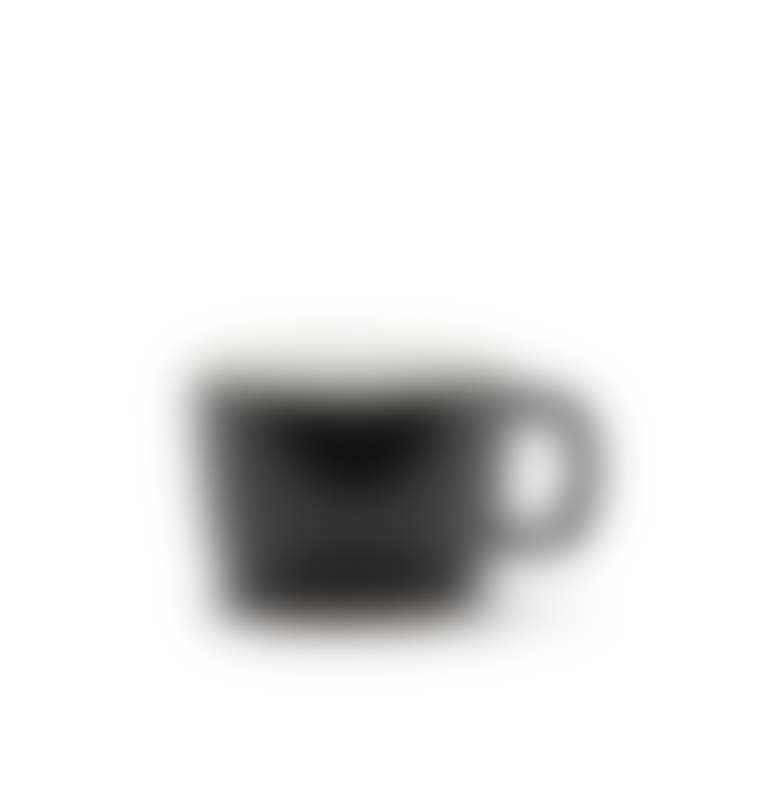 Serax 20cL Black Porcelain Cappuccino Cup with Handle