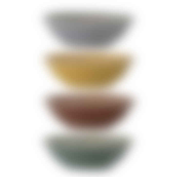 Bloomingville Multi-colour small ceramic dipping bowls