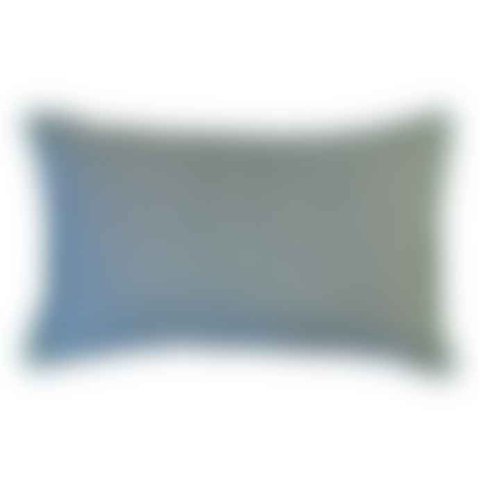 Bluebellgray Teal Linen Cushion
