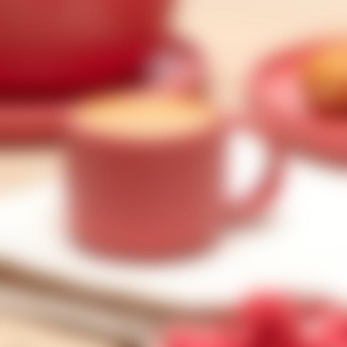 Chickidee Set of 4 Cute Fika Matte Berry Red Mari Espresso Cups