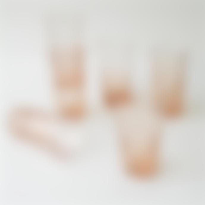 Chickidee Freya Pink Recycled Handmade Glasses Set of 6