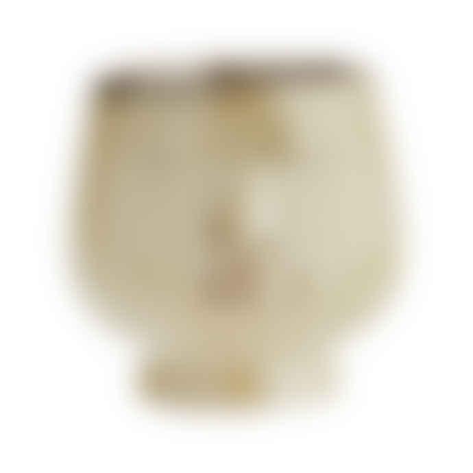 Madam Stoltz Ceramic Stoneware Plant Pot with Face Imprint