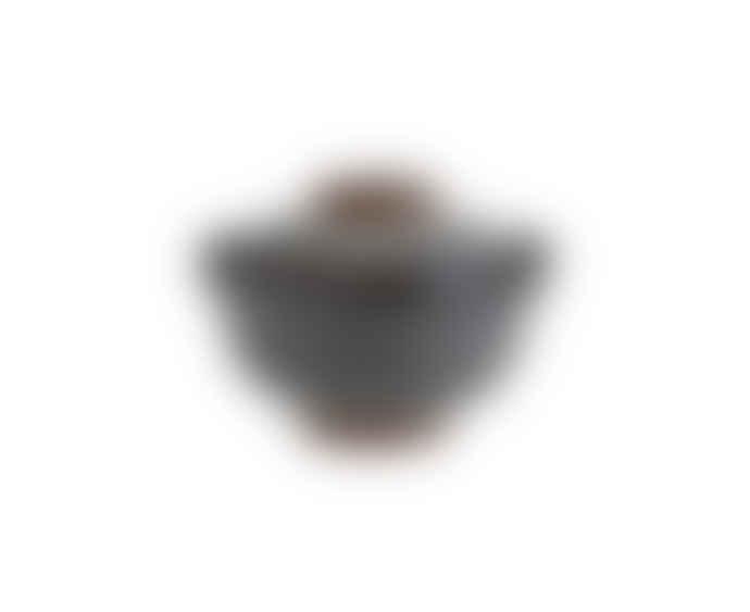 Madam Stoltz Stoneware Bowl with Lid