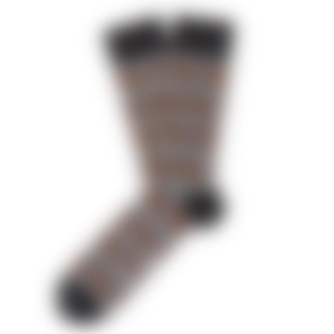 moustard Mens Doughnut Grey Brown Socks