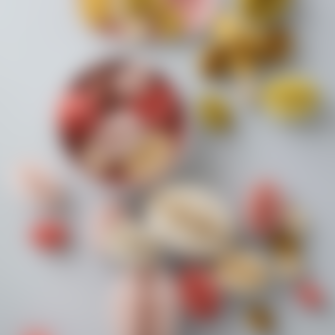 Bungalow DK Set of 2 Medium Easter Swirl Melrose Paper Egg Decoration Honeycomb