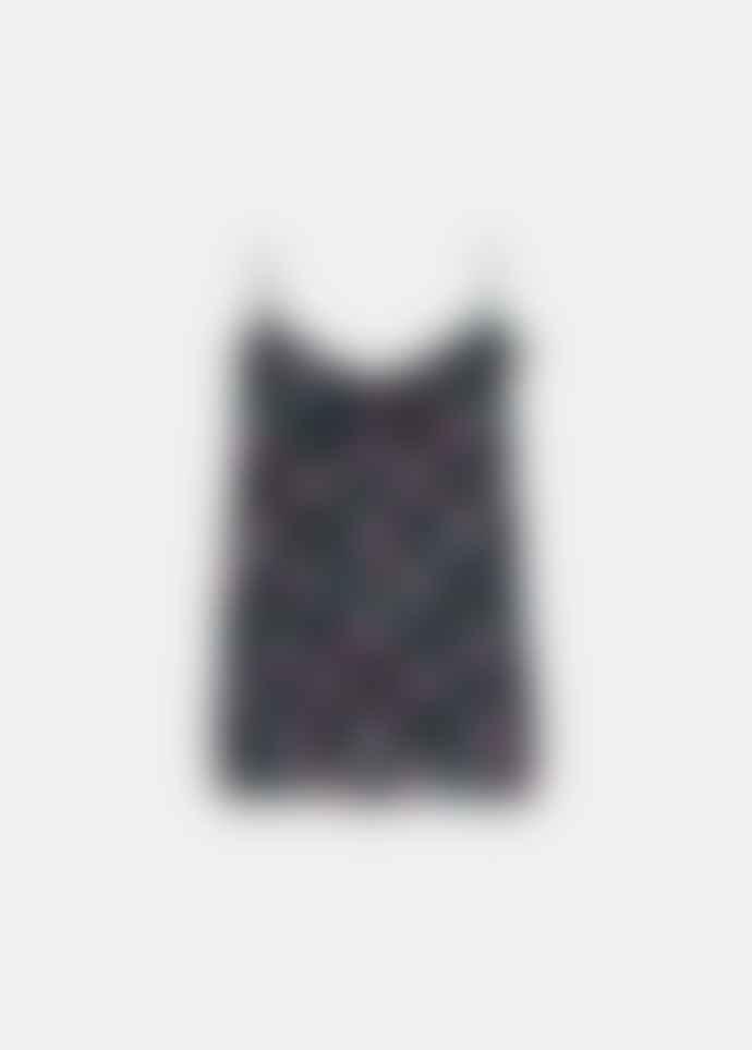 Essentiel Antwerp Viance Frilled Neck Top in Black