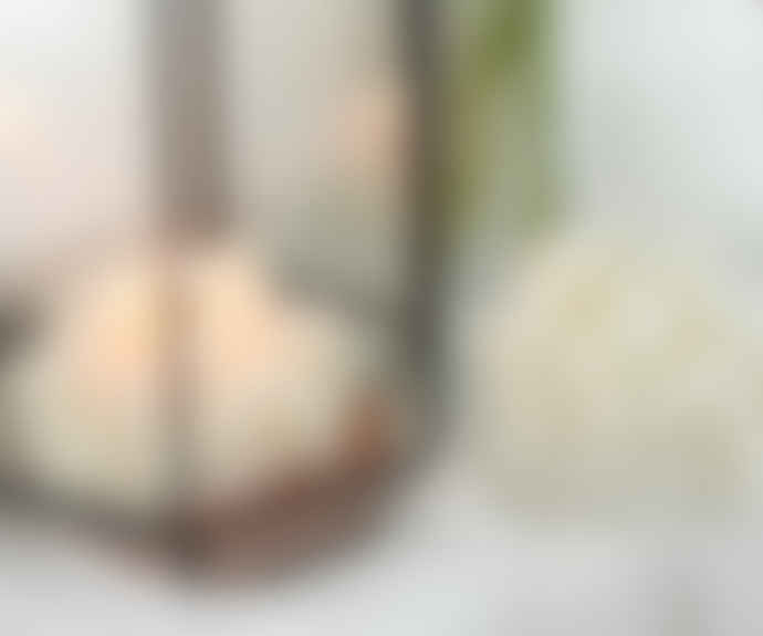 Honey Flamingo Gemstone Candle - Clear Quartz with Fig Scent