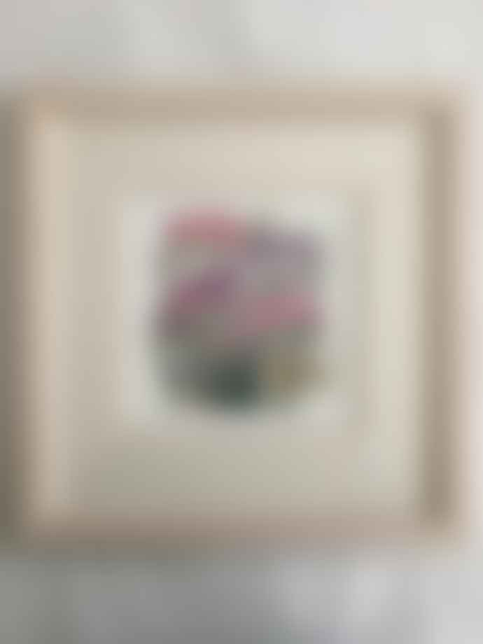Jane Hickman Framed Batik Print of Freesias by Jane Hickman