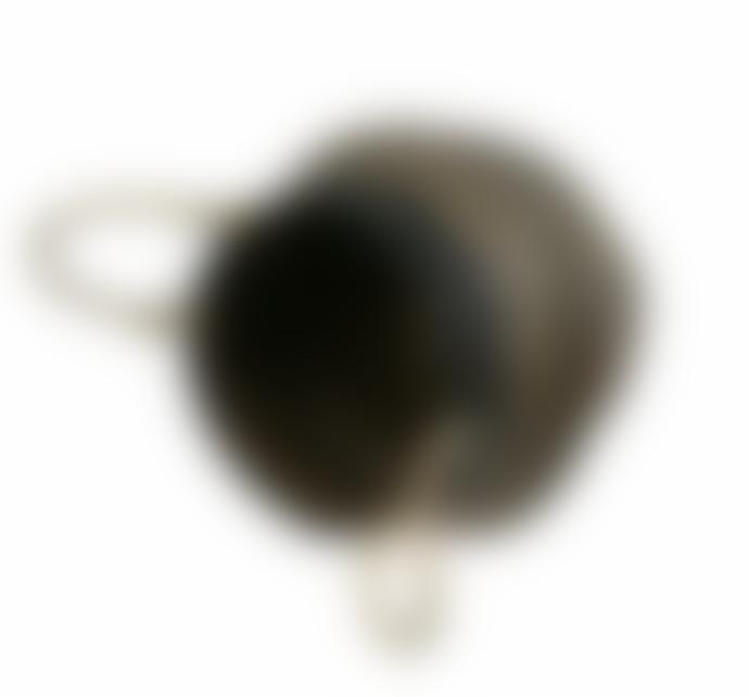 Keep It Living Foldable Handmade Black & Natural Patterned Storage Belly Basket