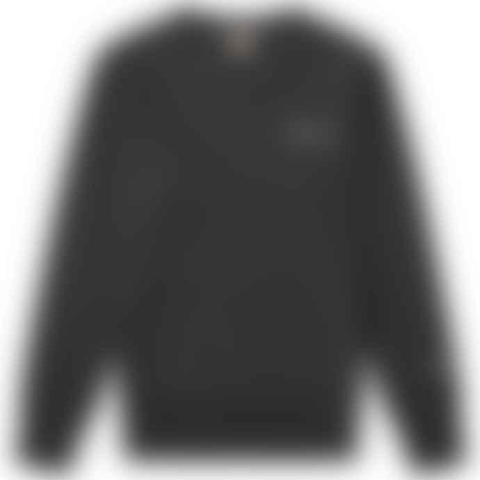 Champion Reverse Weave Script Logo Crew Sweat Black